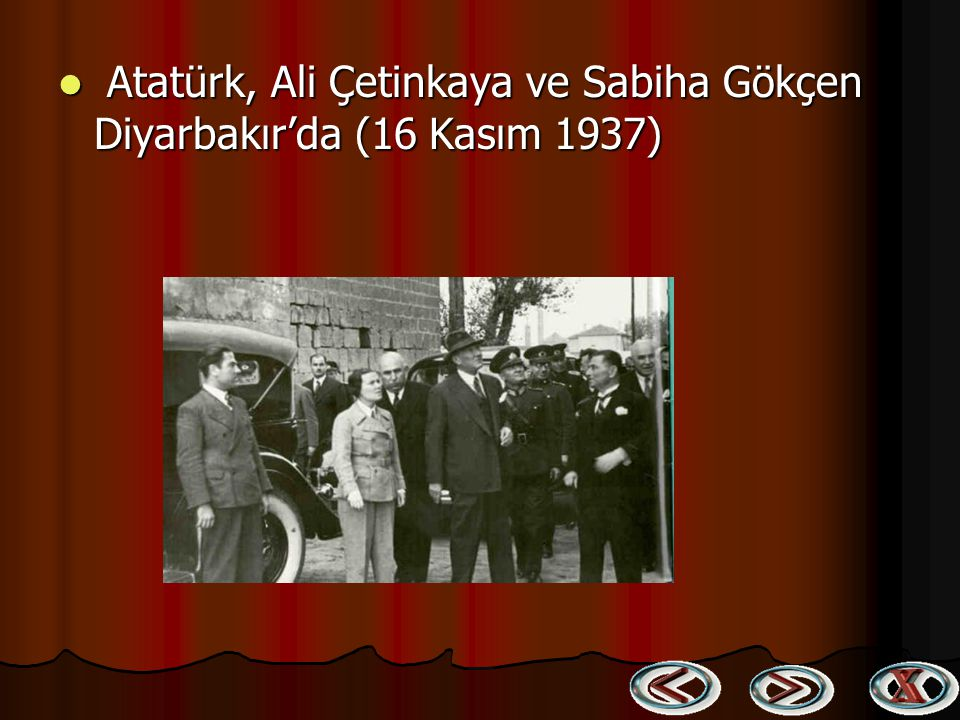 Atatürk, Ali Çetinkaya ve Sabiha Gökçen Diyarbakır'da (16 Kasım 1937)
