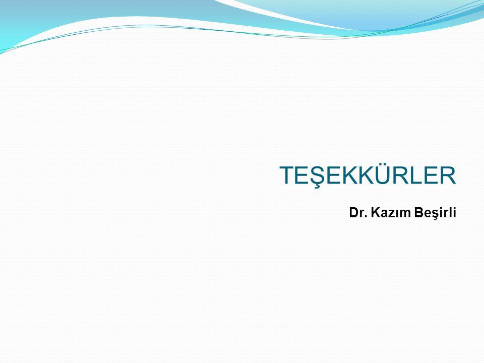 TEŞEKKÜRLER Dr. Kazım Beşirli