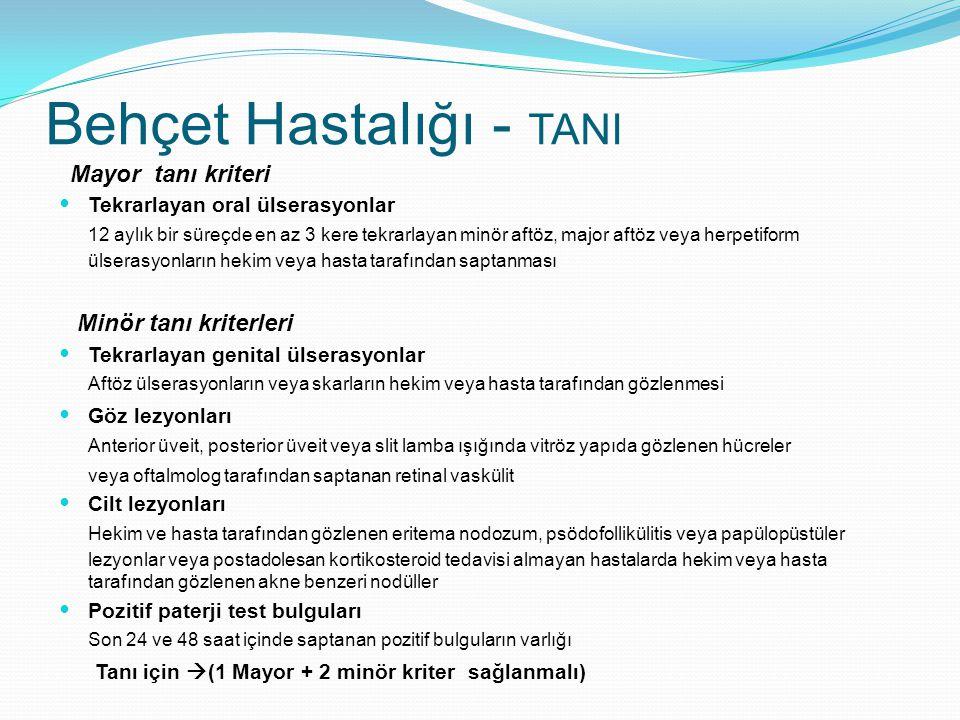 Behçet Hastalığı - TANI