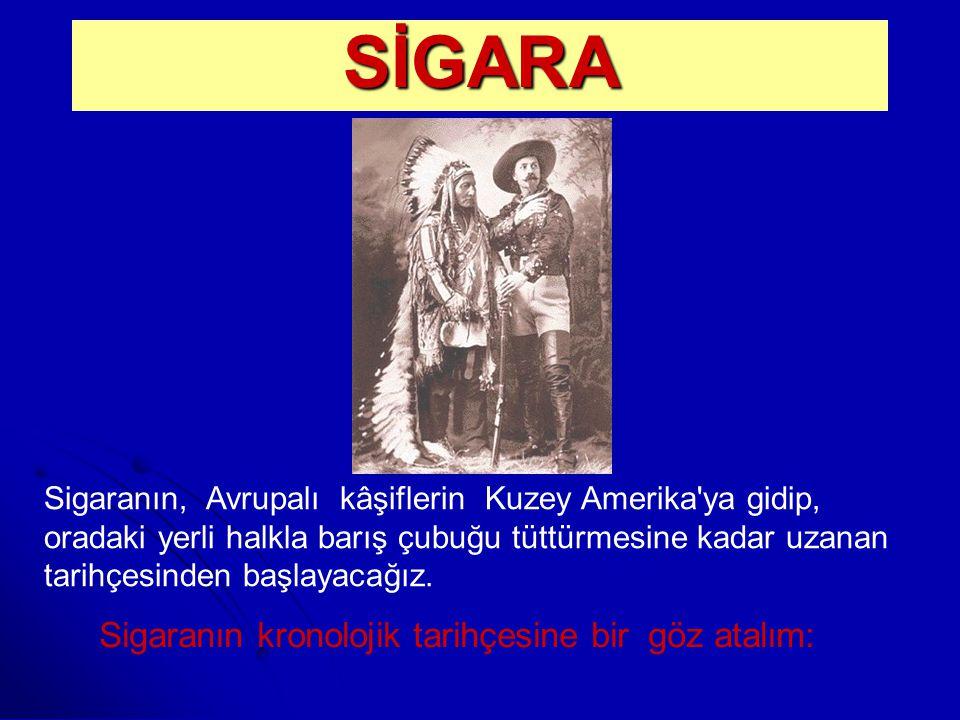 SİGARA Sigaranın kronolojik tarihçesine bir göz atalım:
