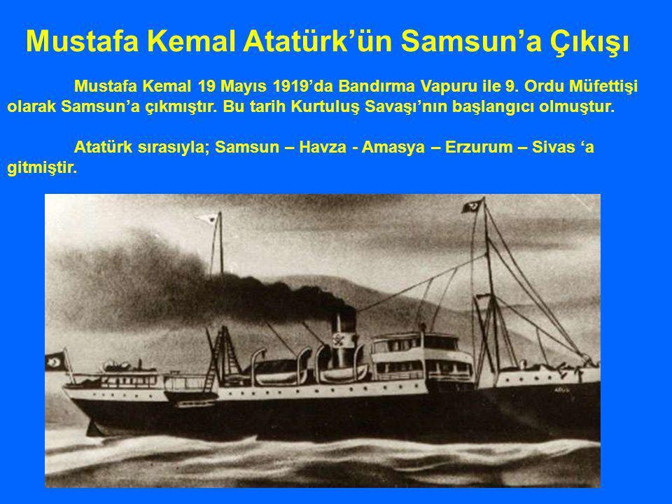 Mustafa Kemal Atatürk'ün Samsun'a Çıkışı