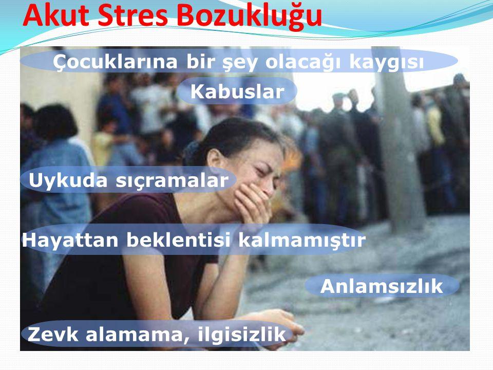 Akut Stres Bozukluğu Çocuklarına bir şey olacağı kaygısı Kabuslar