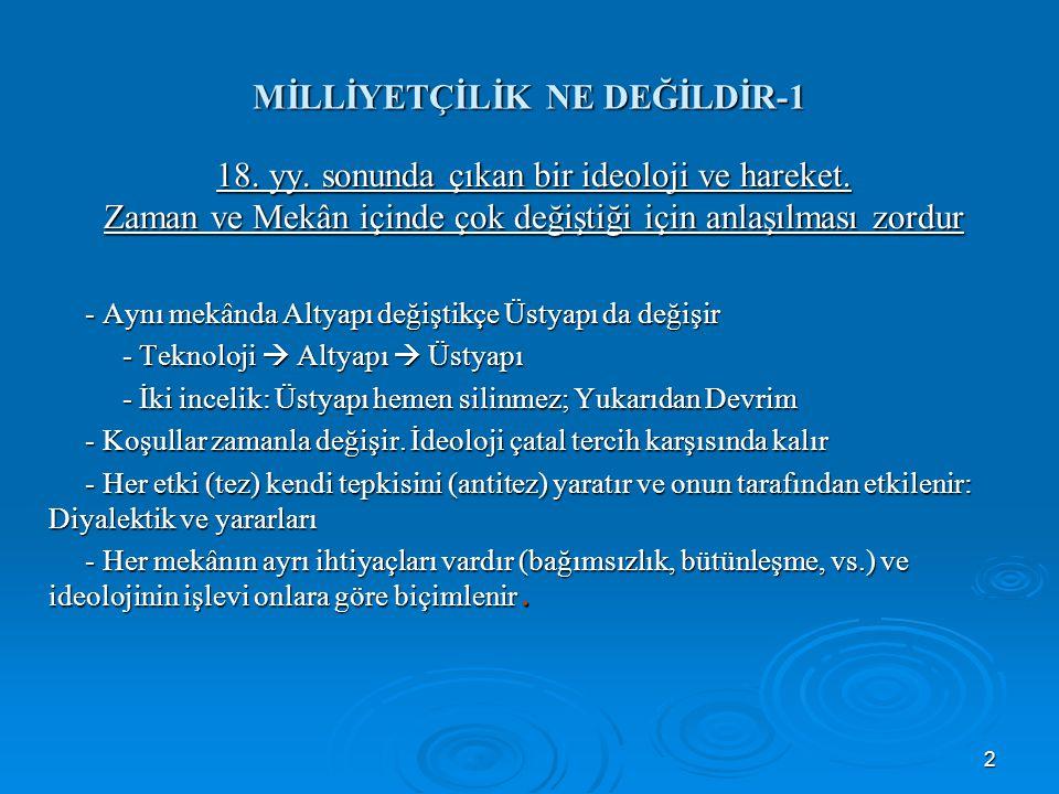 MİLLİYETÇİLİK NE DEĞİLDİR-1