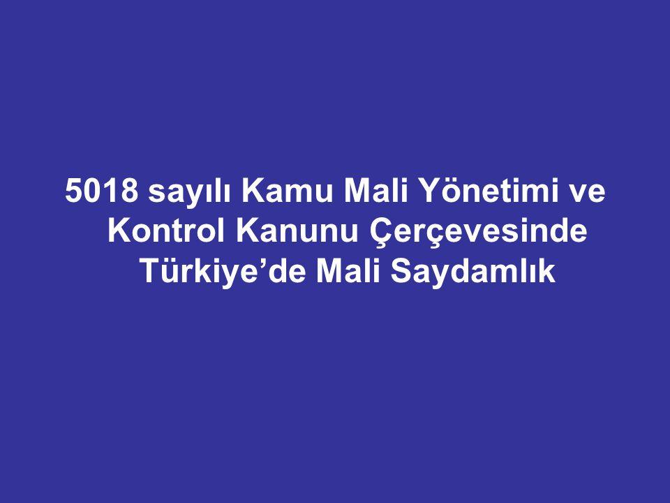 5018 sayılı Kamu Mali Yönetimi ve Kontrol Kanunu Çerçevesinde Türkiye'de Mali Saydamlık
