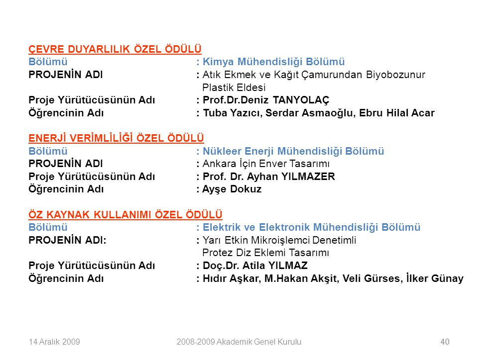 2008-2009 Akademik Genel Kurulu