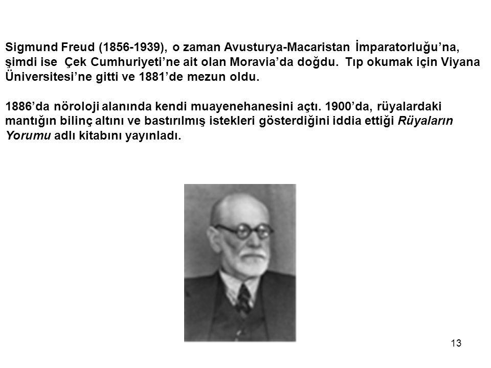 Sigmund Freud (1856-1939), o zaman Avusturya-Macaristan İmparatorluğu'na, şimdi ise Çek Cumhuriyeti'ne ait olan Moravia'da doğdu. Tıp okumak için Viyana Üniversitesi'ne gitti ve 1881'de mezun oldu.