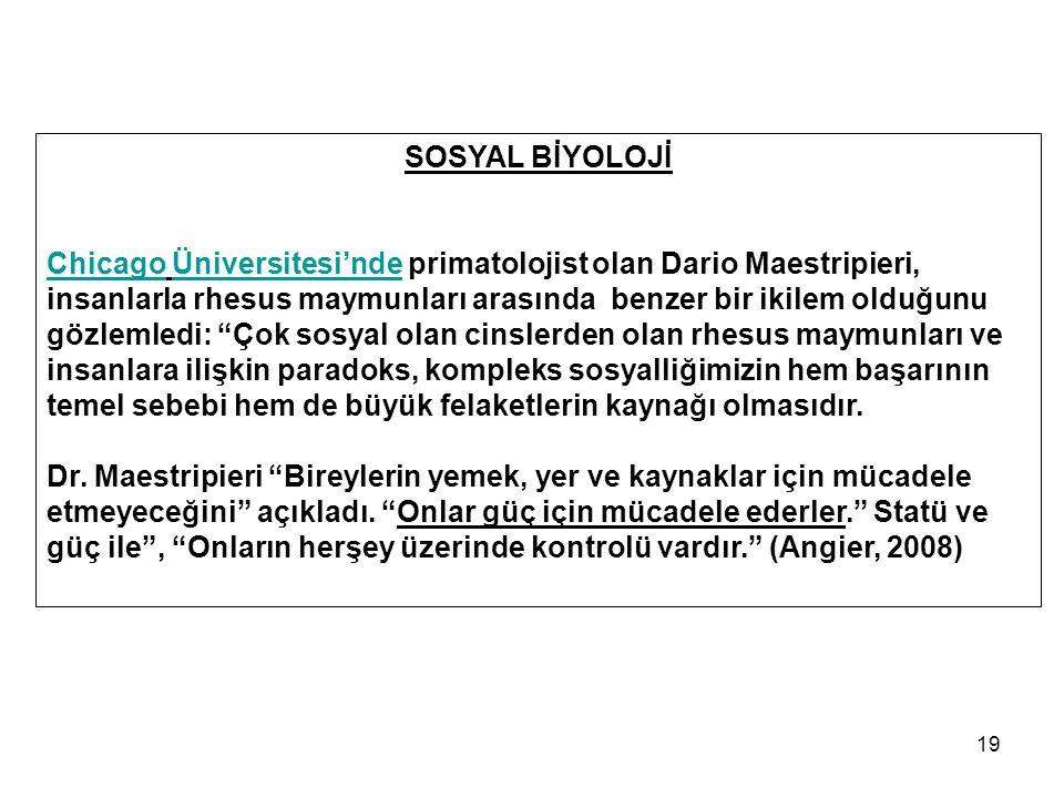 SOSYAL BİYOLOJİ
