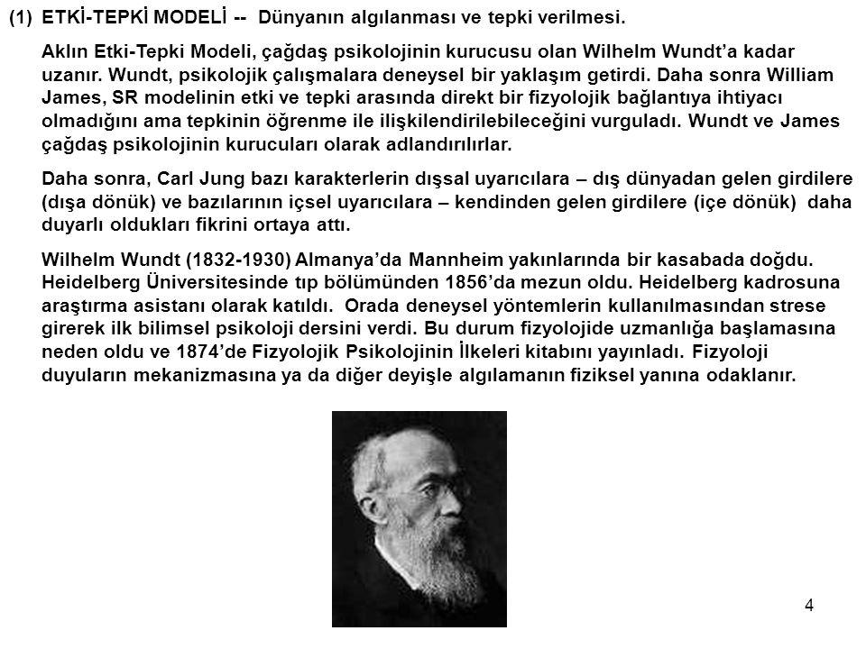 ETKİ-TEPKİ MODELİ -- Dünyanın algılanması ve tepki verilmesi.