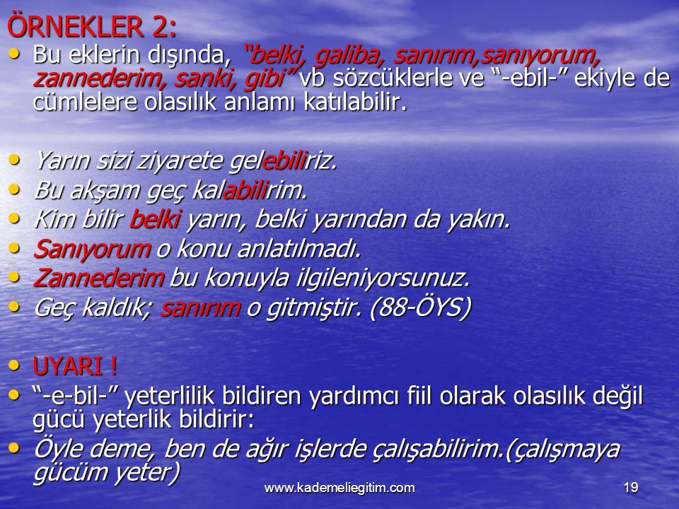 ÖRNEKLER 2: