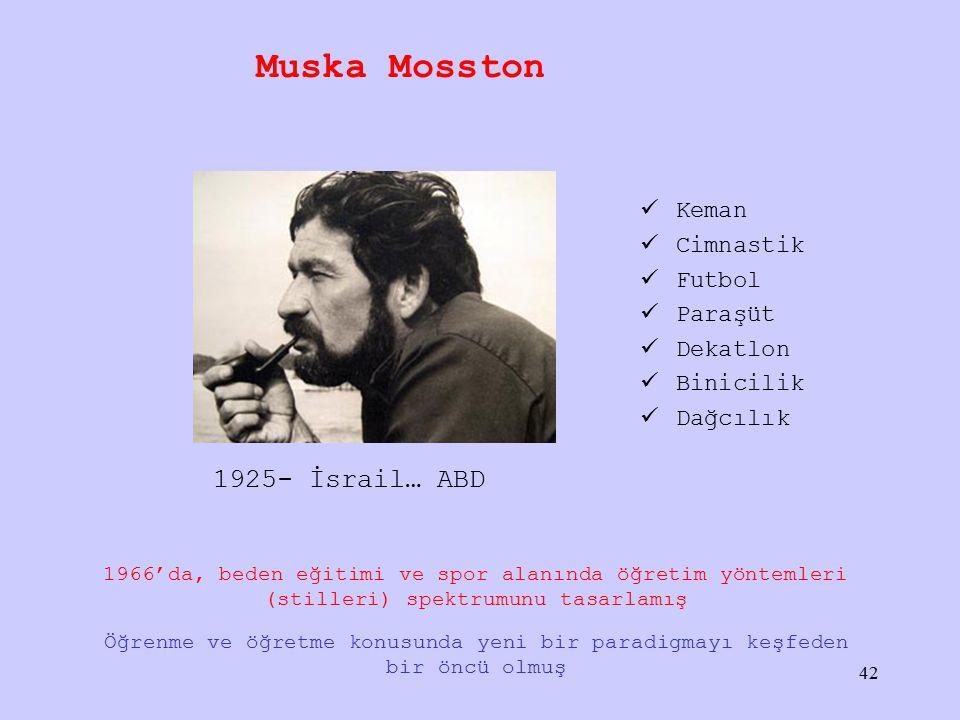Muska Mosston 1925- İsrail… ABD Keman Cimnastik Futbol Paraşüt