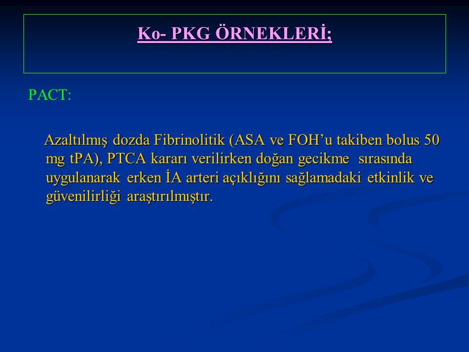 Ko- PKG ÖRNEKLERİ; PACT: