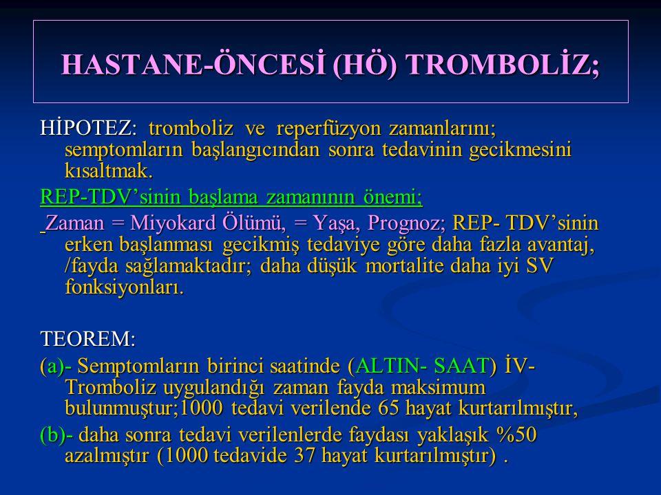 HASTANE-ÖNCESİ (HÖ) TROMBOLİZ;