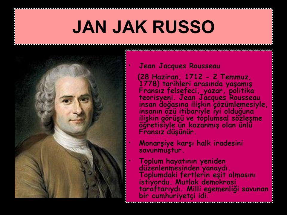 JAN JAK RUSSO Jean Jacques Rousseau