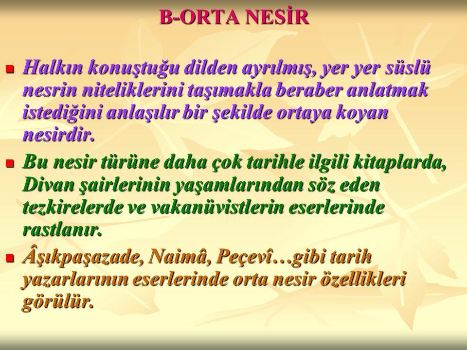 B-ORTA NESİR