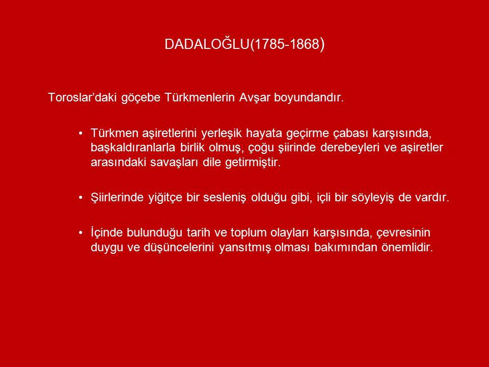 Toroslar'daki göçebe Türkmenlerin Avşar boyundandır.