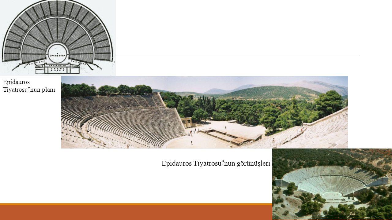 """Epidauros Tiyatrosu""""nun görünüşleri"""