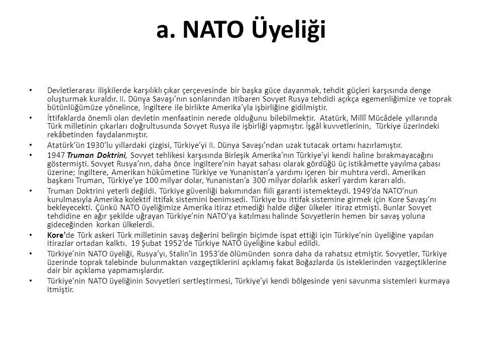 a. NATO Üyeliği