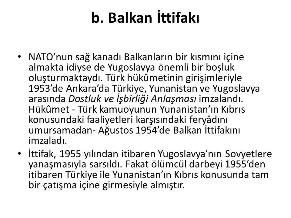 b. Balkan İttifakı