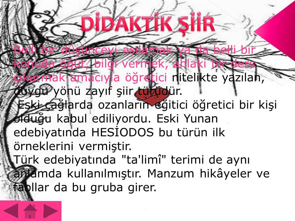 DİDAKTİK ŞİİR