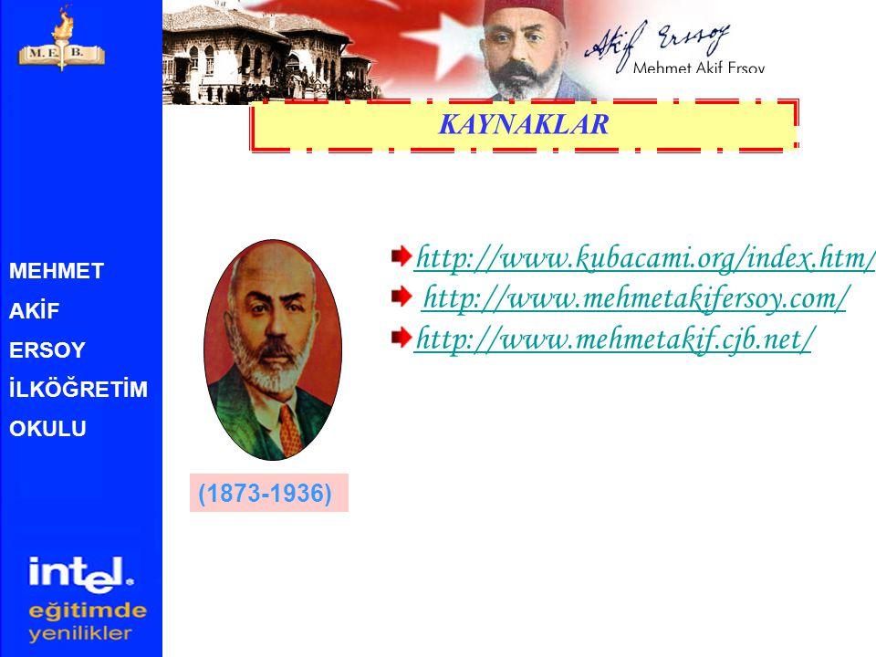 http://www.kubacami.org/index.htm/ http://www.mehmetakifersoy.com/