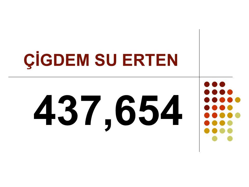 ÇİGDEM SU ERTEN 437,654