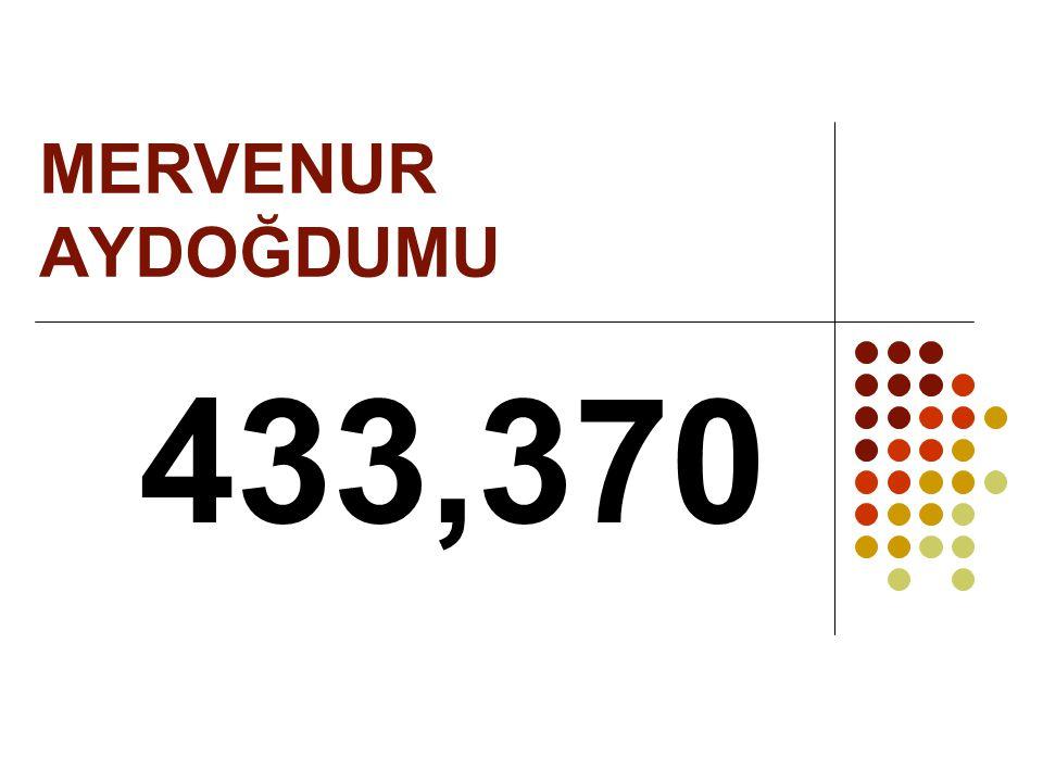 MERVENUR AYDOĞDUMU 433,370