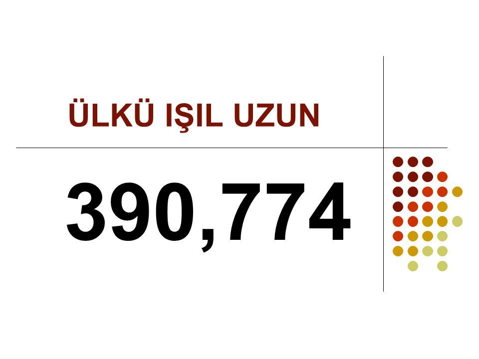 ÜLKÜ IŞIL UZUN 390,774