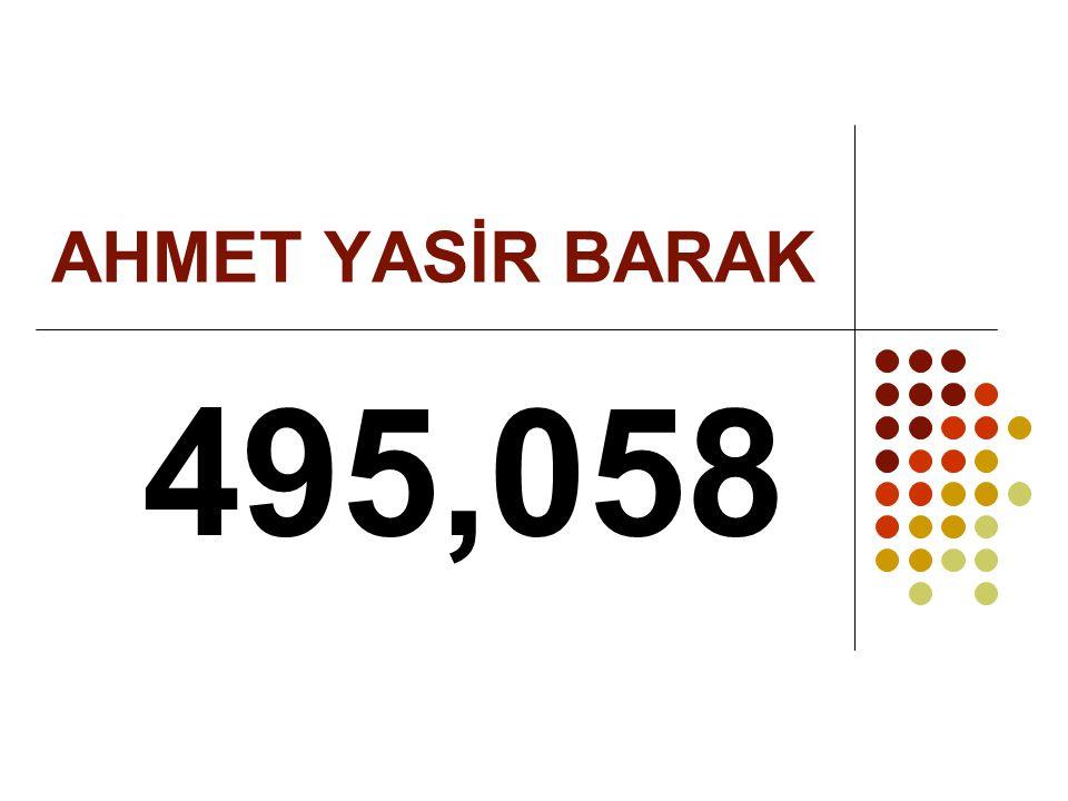 AHMET YASİR BARAK 495,058