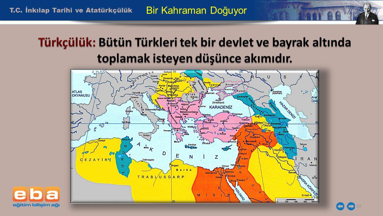 Türkçülük: Bütün Türkleri tek bir devlet ve bayrak altında