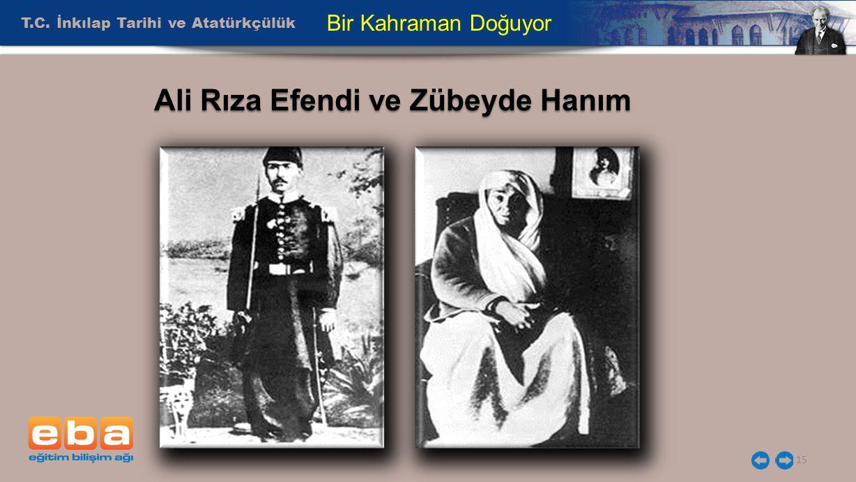 Ali Rıza Efendi ve Zübeyde Hanım