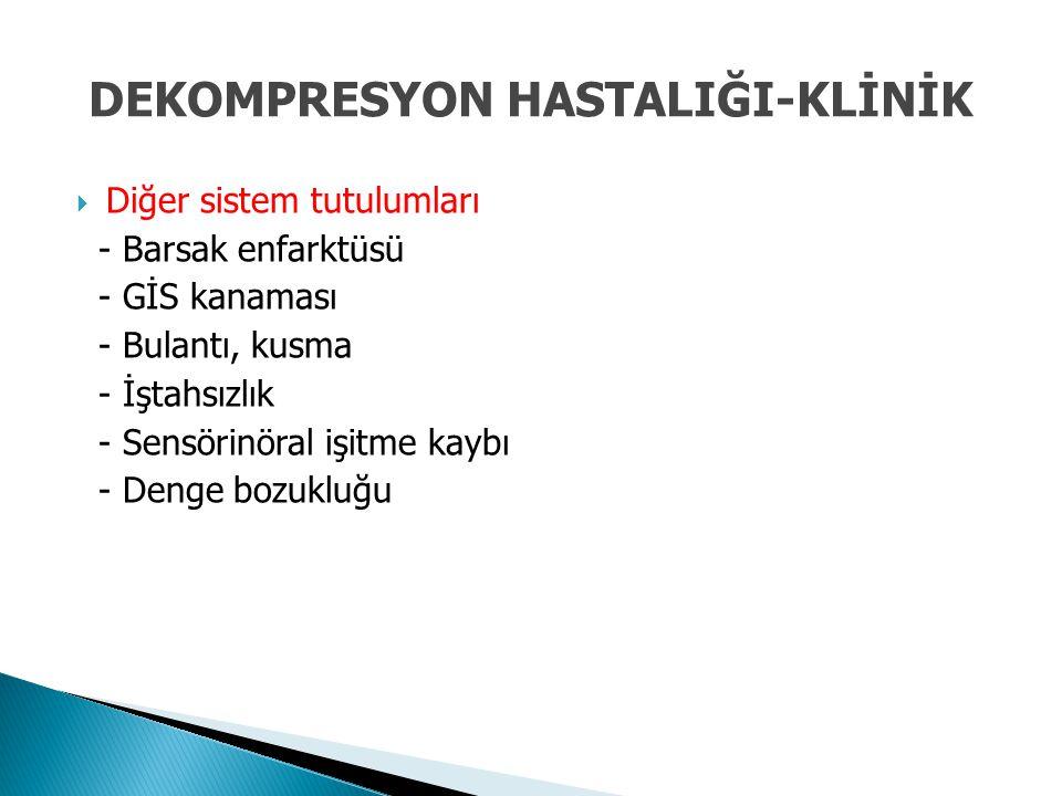 DEKOMPRESYON HASTALIĞI-KLİNİK