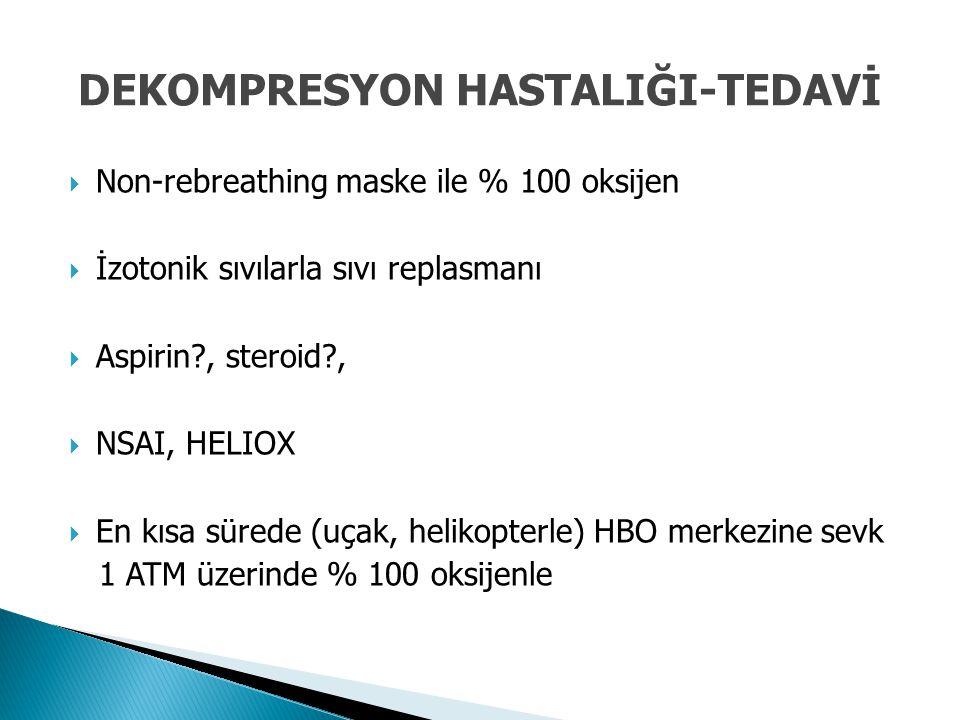 DEKOMPRESYON HASTALIĞI-TEDAVİ