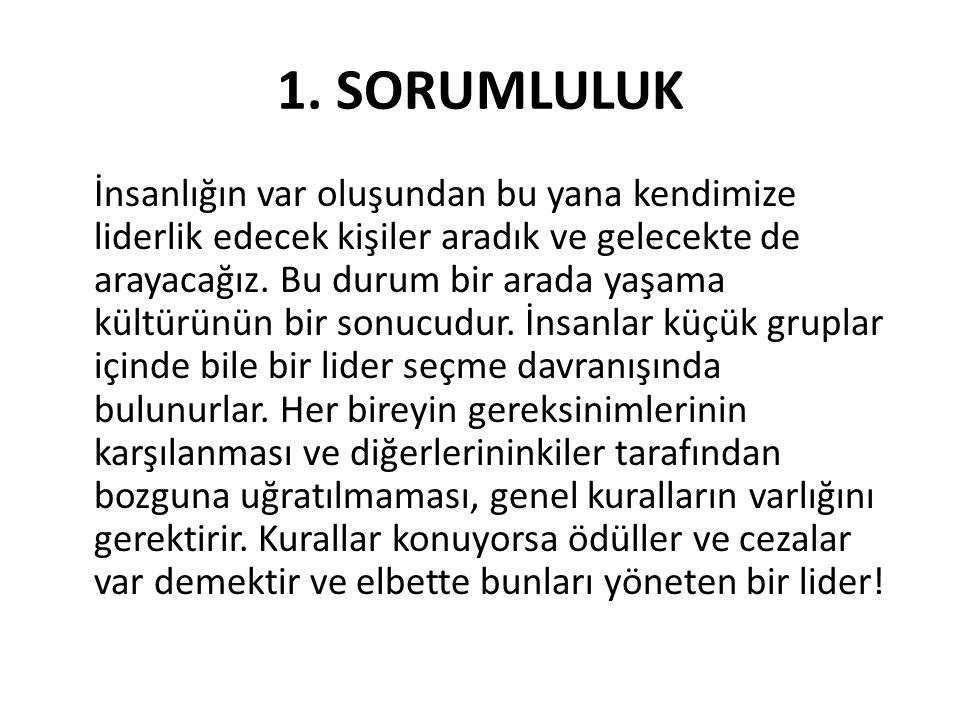 1. SORUMLULUK
