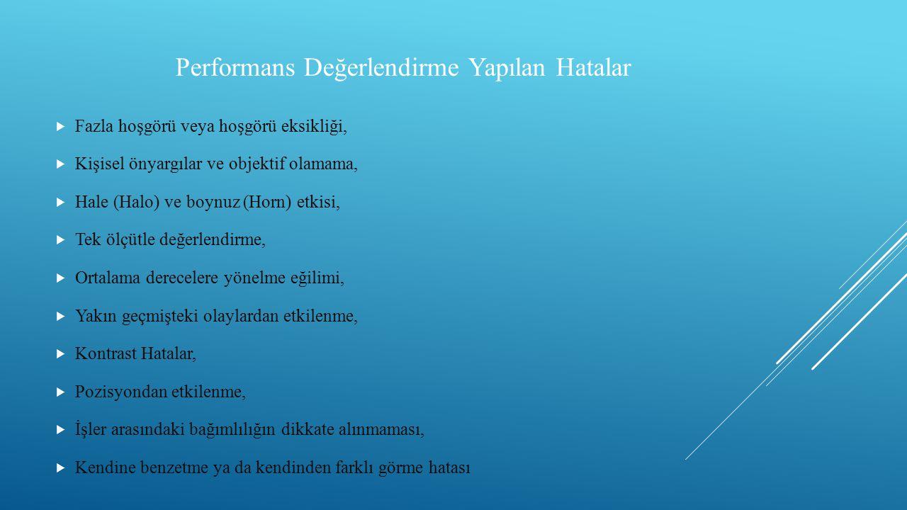 Performans Değerlendirme Yapılan Hatalar