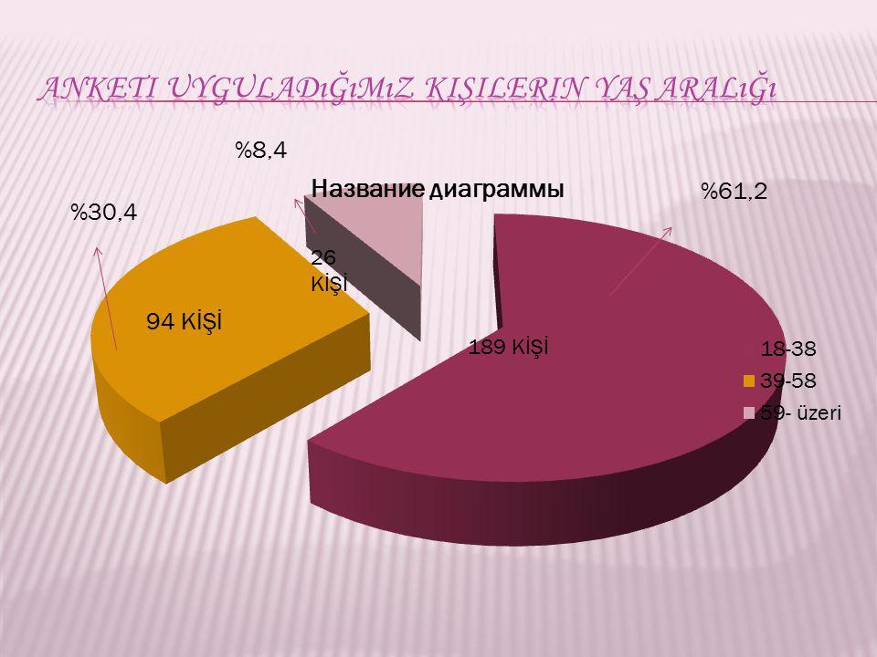 Anketi uyguladığımız kişilerin yaş aralığı