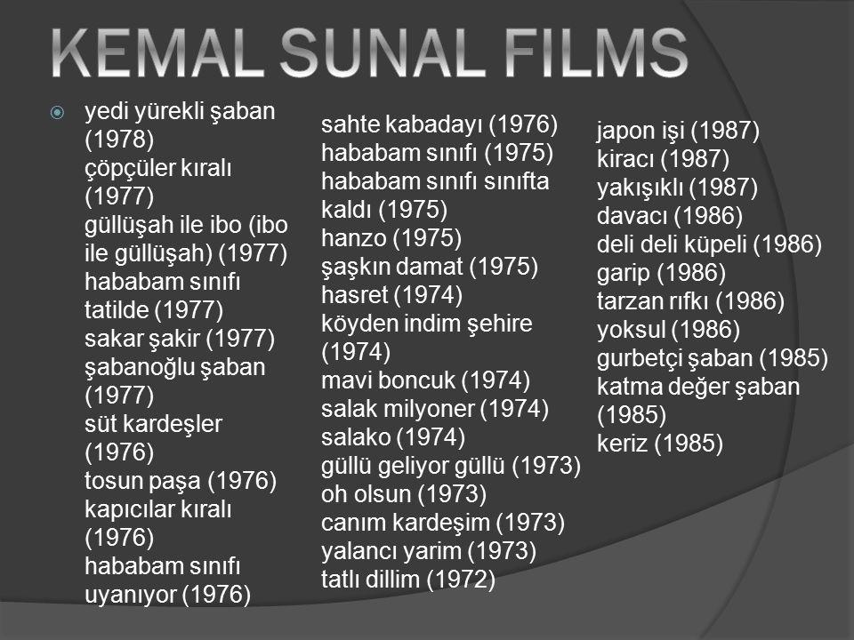 KEMAL SUNAL FILMS