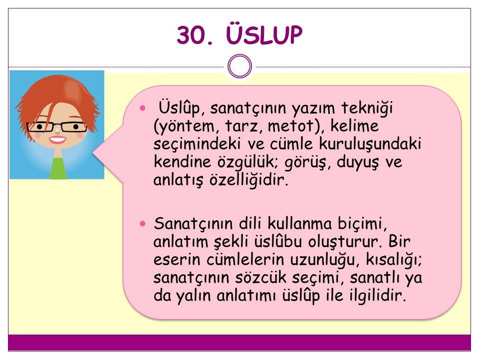 30. ÜSLUP