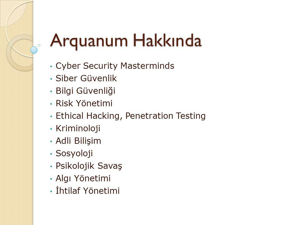 Arquanum Hakkında Cyber Security Masterminds Siber Güvenlik
