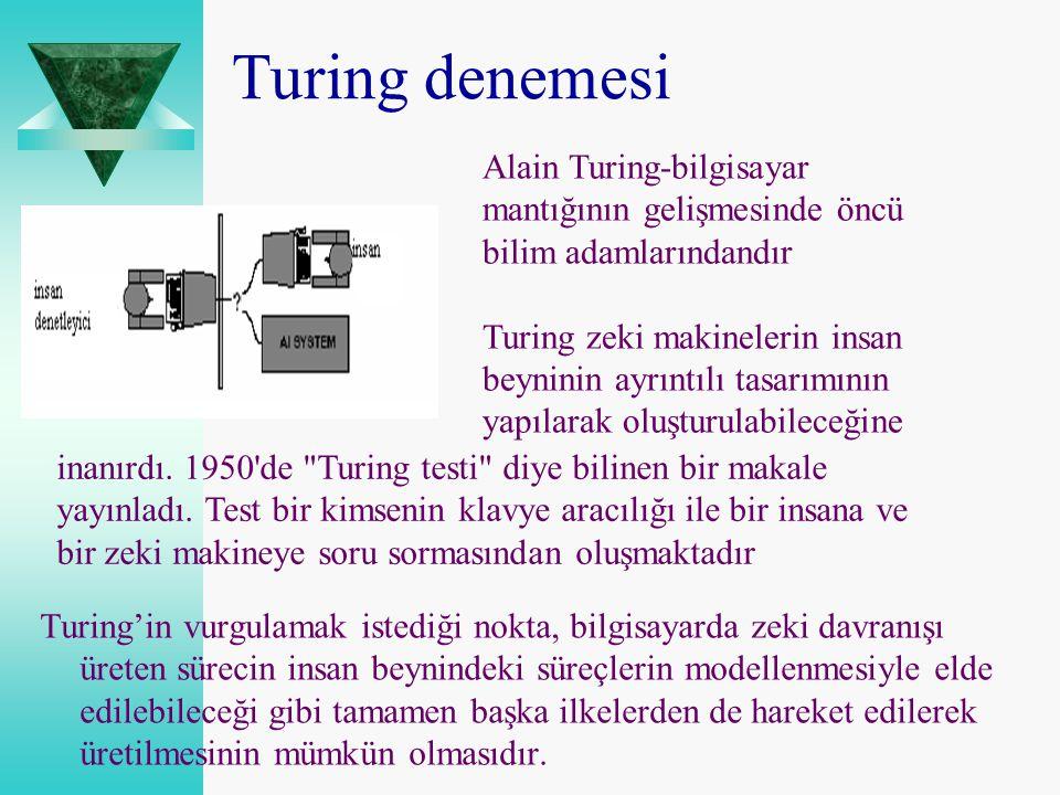 Turing denemesi Alain Turing-bilgisayar mantığının gelişmesinde öncü bilim adamlarındandır.