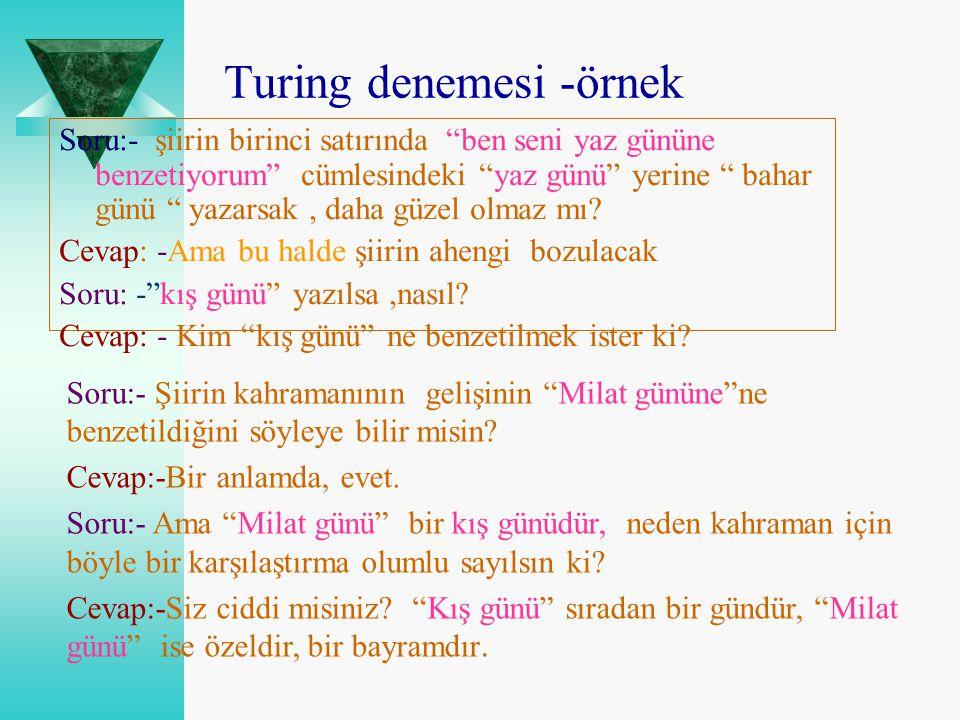 Turing denemesi -örnek