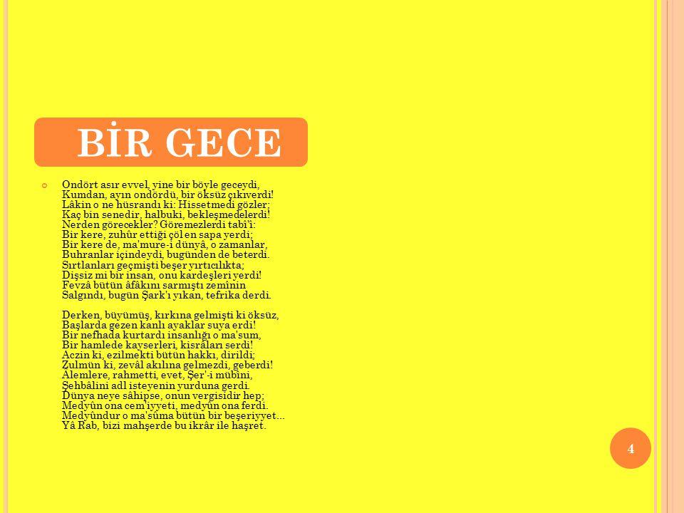 BİR GECE