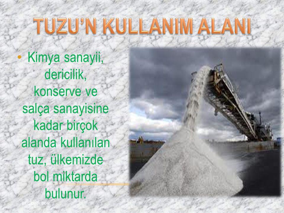 TUZU'N KULLANIM ALANI