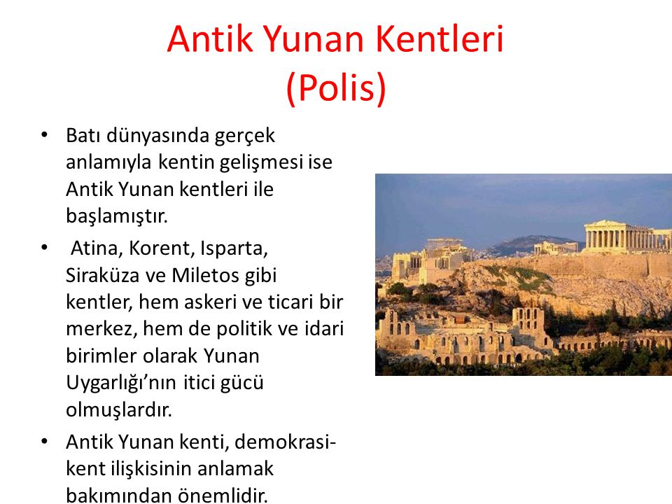 Antik Yunan Kentleri (Polis)