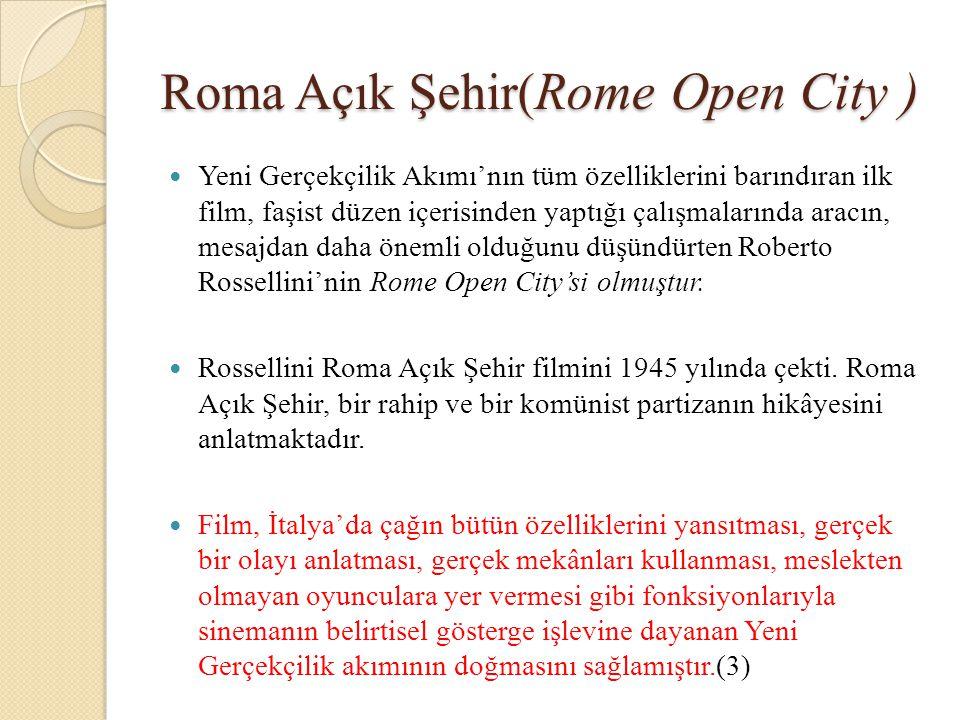 Roma Açık Şehir(Rome Open City )