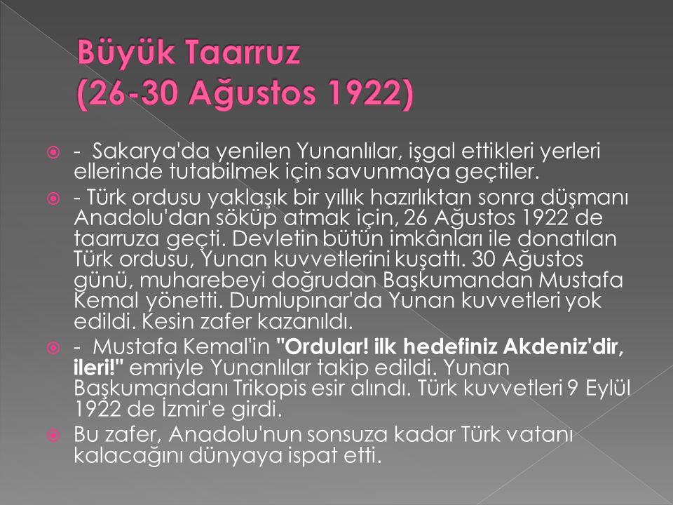 Büyük Taarruz (26-30 Ağustos 1922)