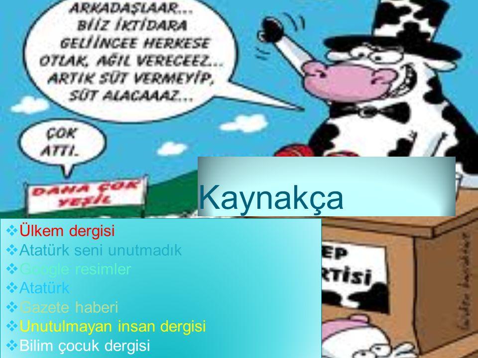 Kaynakça Ülkem dergisi Atatürk seni unutmadık Google resimler Atatürk