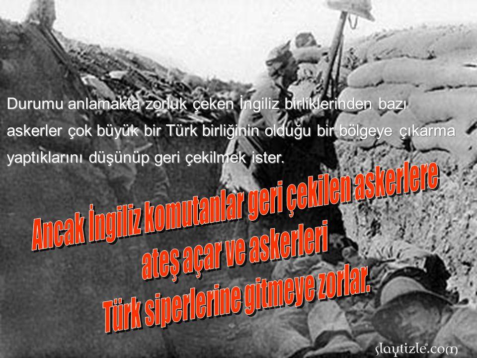 Ancak İngiliz komutanlar geri çekilen askerlere ateş açar ve askerleri