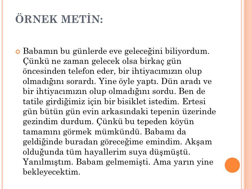 ÖRNEK METİN: