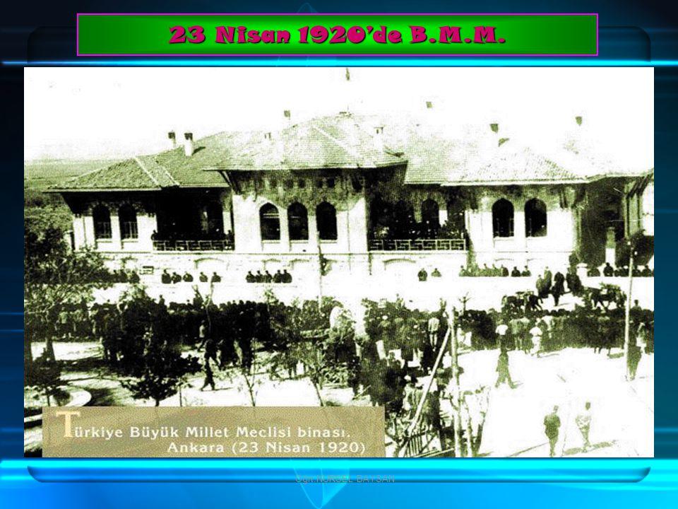23 Nisan 1920'de B.M.M. Öğrt.NURSEL BAYSAN