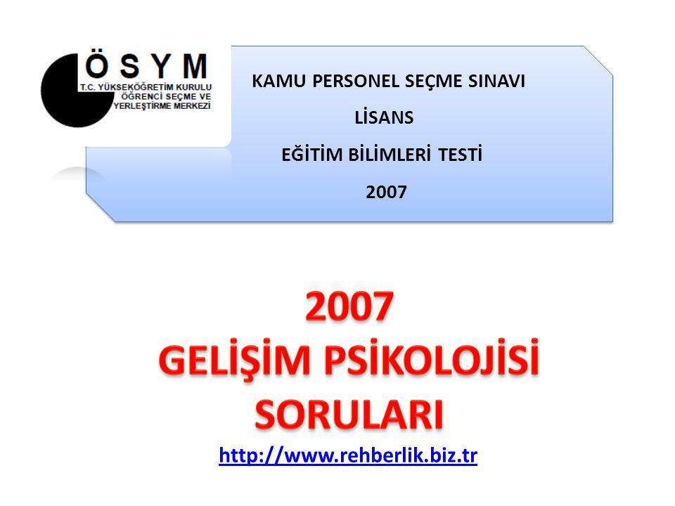 KAMU PERSONEL SEÇME SINAVI EĞİTİM BİLİMLERİ TESTİ